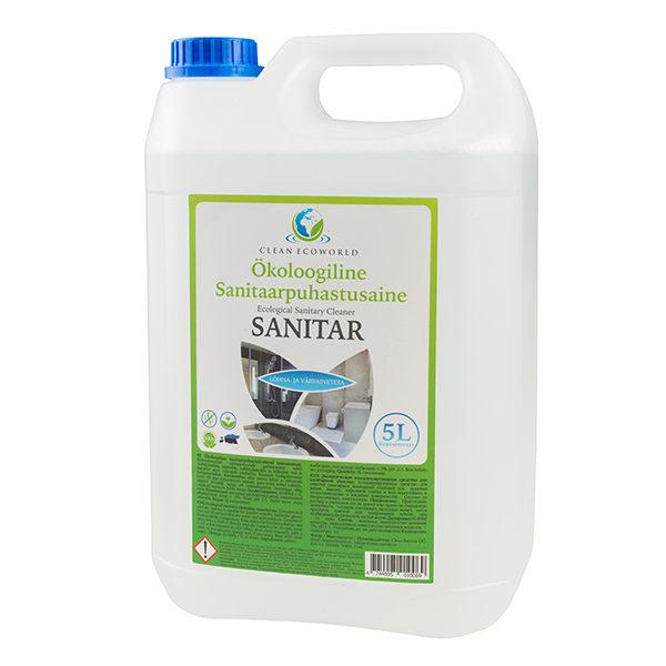 Sanitaarpuhastusvahend SANITAR 5l - Looduslikud puhastusvahendid