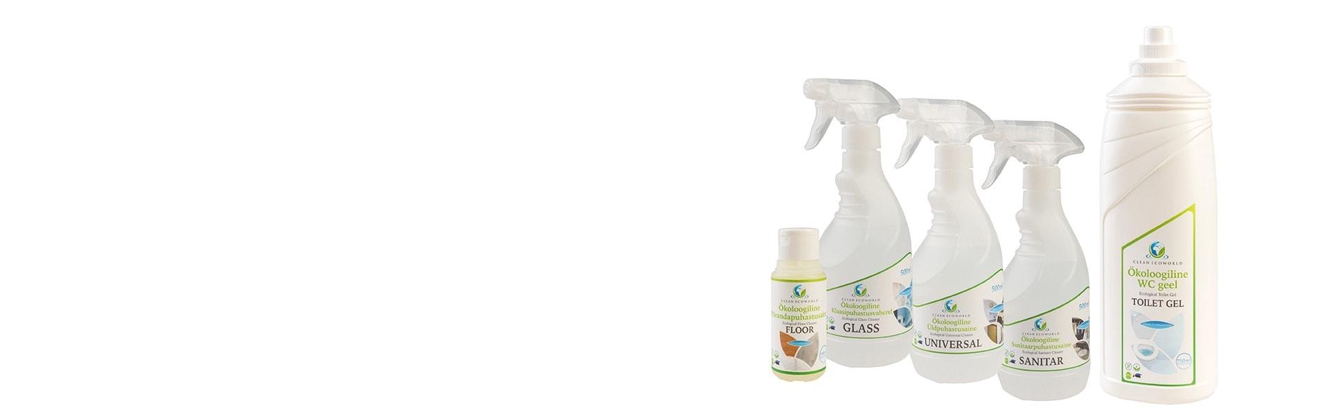 Looduslikud puhastusvahendid testkomplekt